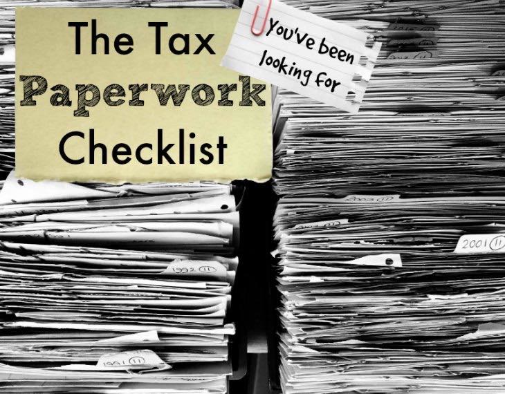 "Reginald ""Kim"" Boldon's Tax Paperwork Checklist"